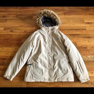 The North Face hooded goose down jacket